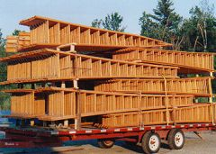 A truckload of ladders